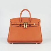 Hermes Birkin 25cm Handbag 6068 orange golden