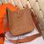 Hermes Evelyne III Togo Leather Crossbody Bag Brown